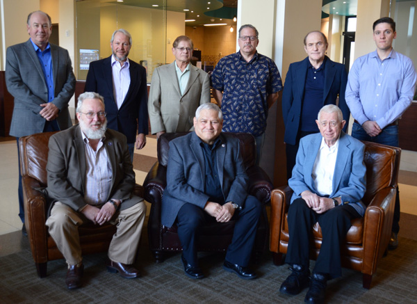 EMP Taskforce members present include from left to right: Top row, George Kersten, Stuart Walker, Al Florence, James Hafer, Jerry Emanuelson, Chris Brune: Front Row, Dwight Eckert, Glenn Rhoades, Jim Beall.